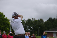 David Barron (Warrenpoint) during the final  of the Ulster Mixed Foursomes at Killymoon Golf Club, Belfast, Northern Ireland. 26/08/2017<br /> Picture: Fran Caffrey / Golffile<br /> <br /> All photo usage must carry mandatory copyright credit (&copy; Golffile   Fran Caffrey)