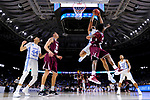 GREENVILLE, SC - MARCH 17: Kennedy Meeks (3) of the University of North Carolina attemps a shot over Lamont Walker (14) of Texas Southern University during the 2017 NCAA Men's Basketball Tournament held at Bon Secours Wellness Arena on March 17, 2017 in Greenville, South Carolina. (Photo by Grant Halverson/NCAA Photos via Getty Images)