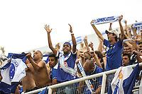 SAO PAULO, SP, 03.11.2013 - CAMP. BRASILEIRO - SANTOS X CRUZEIRO - Torcida do Cruzeiro durante partida contra o Santos jogo valido pela 32 rodada do Campeonato Brasileiro no Estadio Estádio Urbano Caldeira neste domingo, 03. (Foto: William Volcov / Brazil Photo Press).