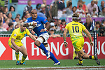 Australia vs Samoa during their Pool A match as part of the HSBC Hong Kong Rugby Sevens 2017 on 07 April 2017 in Hong Kong Stadium, Hong Kong, China. Photo by Weixiang Lim / Power Sport Images