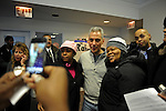 Rahm Emanuel poses for photographs with his supporters at the opening of his first field office for his campaign for Chicago mayor in the South Side neighborhood of Hyde Park in Chicago, Illinois on December 11, 2010.