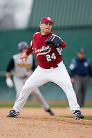 Curtis Johnson (24) in action versus the East Carolina Pirates at Sarge Frye Field in Columbia, SC, Sunday, February 24, 2008.