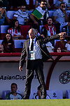 Australia Head Coach Graham Arnold reacts during the AFC Asian Cup UAE 2019 Group B match between Palestine (PLE) and Australia (AUS) at Rashid Stadium on 11 January 2019 in Dubai, United Arab Emirates. Photo by Marcio Rodrigo Machado / Power Sport Images