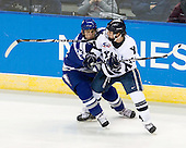 Scott Mathis (Air Force - 23), Broc Little (Yale - 14) - The Yale University Bulldogs defeated the Air Force Academy Falcons 2-1 (OT) in their East Regional Semi-Final matchup on Friday, March 25, 2011, at Webster Bank Arena at Harbor Yard in Bridgeport, Connecticut.