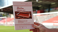 Last ever programme to be printed at Griffin Park during Brentford vs Swansea City, Sky Bet EFL Championship Play-Off Semi-Final 2nd Leg Football at Griffin Park on 29th July 2020