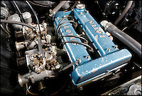 BNPS.co.uk (01202 558833)<br /> Pic: SimonClay/Bonhams//BNPS<br /> <br /> ***Please Use Full Byline***<br /> <br /> Secret weapon - the Lotus tuned engine.<br /> <br /> &pound;140,000 might seem a lot of money for a 50 year old Ford Cortina - but this 1965 version is a little bit of British automotive history that should have buyers flocking to the Goodwood Festival of Speed this friday to bid for some unique racing heritage.<br /> <br /> Back in the 1970s and '80s, the mass-produced vehicle was the archetypal used motor that filled the pages of second hand car ad's - But despite it rather dated looks this car is no old banger.<br /> <br /> Tuned and powered by Lotus and driven by Sir John Whitemore this unlikely looking racing machine won every race in the 1965 European Touring Car Championship - leaving more famous continental manufacturers in its wake.<br /> <br /> Powered by a 2 litre engine the car was practically unbeatable throughout the 1960's with famous drivers such as Graham Hill and Jim Clark learning the skills that would later take them to F1 glory in the understated Ford.<br /> <br /> Bonhams - Goodwood Festival of Speed 12/7 - &pound;140,000