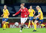 Isabell Herlovsen, Victoria Svensson, QF, Sweden-Norway, Women's EURO 2009 in Finland, 09042009, Helsinki Football Stadium.
