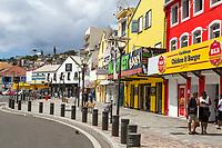 Fort-de-France, Martinique.  Rue Ernest Desproges, Street Scene with  Stores and Shops.
