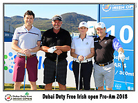 Darren Clarke (NIR) team on the 10th tee during Wednesday's Pro-Am of the 2018 Dubai Duty Free Irish Open, held at Ballyliffin Golf Club, Ireland. 4th July 2018.<br /> Picture: Eoin Clarke | Golffile<br /> <br /> <br /> All photos usage must carry mandatory copyright credit (&copy; Golffile | Eoin Clarke)