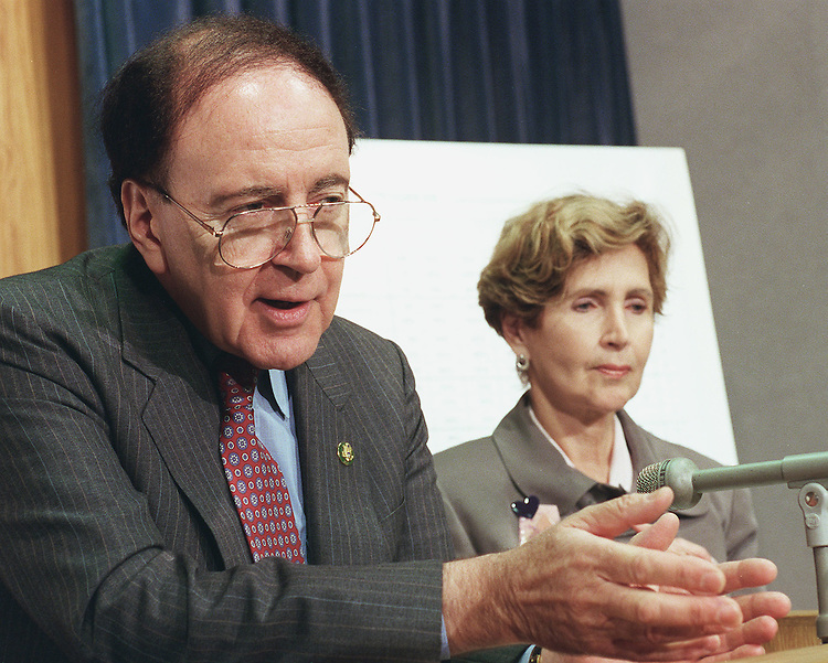 9/9/98.PROGRESS ON YEAR 2000 COMPUTER PROBLEM--Reps. Stephen Horn, R-Calif., chairman of Government Management, Information & Technology, and Constance A. Morella, R-Md., during a news conference on the Y2K computer problem..CONGRESSIONAL QUARTERLY PHOTO BY SCOTT J. FERRELL