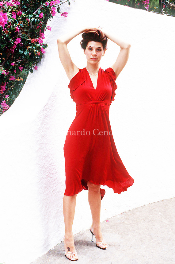 Marisa Tomei is an American actress. She is the recipient of various accolades including an Academy Award and nominations for a BAFTA Award, two Golden. Vieste 28 july 1999. © Leonardo Cendamo