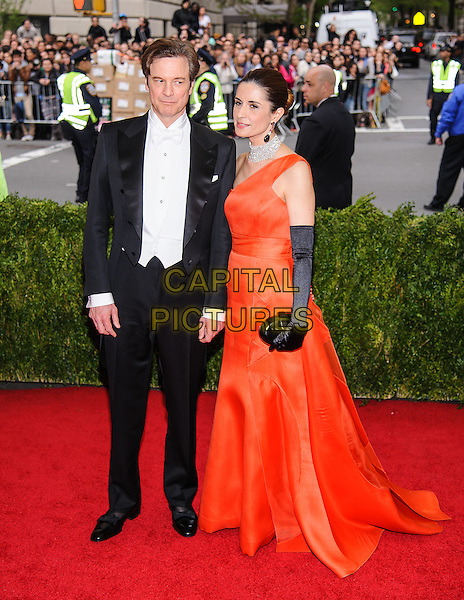 05 May 2014 - New York, New York- Colin Firth, Liva Giuggioli. &quot;Charles James: Beyond Fashion&quot; Costume Institute Gala at The Metropolitan Museum of Art.  <br /> CAP/ADM/CS<br /> &copy;Christopher Smith/AdMedia/Capital Pictures