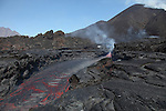 Lava flow from Fogo Volcano eruption, Cape Verde