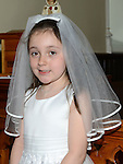 Isobel Evans who received first holy communion in St Michael's church Clogherhead. Photo:Colin Bell/pressphotos.ie