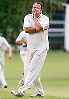 Tony Duckett of Highgate shows his frustration at being denied an LBW during the Middlesex County League Division Three game between Highgate and Bessborough at Park Road, Crouch End on Sat Sept 4, 2010