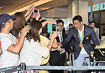 Takeshi Matsuda, August 17, 2016, Tokyo, Japan : Rio 2016 Summer Olympic Games men's 4x200m Freestyle Relay bronze medallist Takeshi Matsuda arrives at Tokyo International Airport in Tokyo, Japan, on August 17, 2016. (Photo by AFLO)