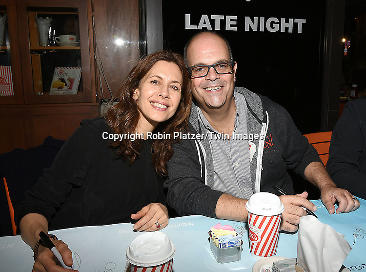 Jessica Hecht and Brad Oscar attends the Broadway Cares/Equity Fights Aids Flea Market and Grand Auction on September 25, 2016 at the Music Box Theatre and in Shubert Ally in New York, New York, USA. <br /> <br /> photo by Robin Platzer/Twin Images<br />  <br /> phone number 212-935-0770