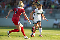 Boyds, MD. - Saturday, June 24 2017:  Kassey Kallman, Hayley Raso during a regular season National Women's Soccer League (NWSL) match between the Washington Spirit and the Portland Thorns FC at Maureen Hendricks Field, Maryland SoccerPlex.<br />  The Washington Spirit defeated the Portland Thorns FC 1-0.