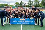 AMSTELVEEN -    finale Kampong MB1-Amsterdam MB1. AMSTERDAM MB1 wint de titel Meisjes B. finales A en B jeugd  Nederlands Kampioenschap. links Leon Rutten, rechts Victor Brouwer.  COPYRIGHT KOEN SUYK