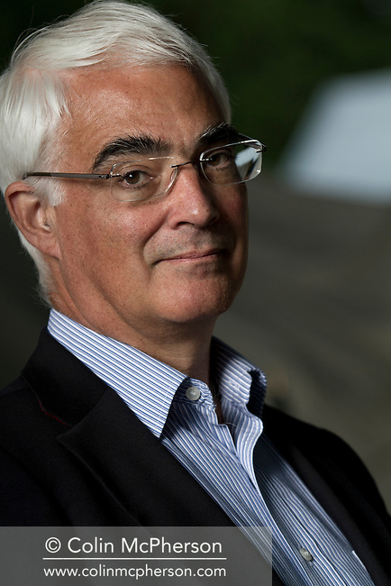 British Labour Party politician, Alastair Darling MP, pictured in his attending an event at the Edinburgh International Book Festival. He has been a Member of Parliament at Westminster since 1987 and was Chancellor of the Exchequer from 2007 to 2010. Darling was one of only three people to have served in the Cabinet continuously from Labour's victory in 1997 until its defeat in 2010.