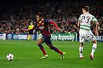 UEFA Champions League 2013/2014.<br /> FC Barcelona vs Celtic FC: 6-1 - Game: 6.<br /> Neymar vs Lustig.
