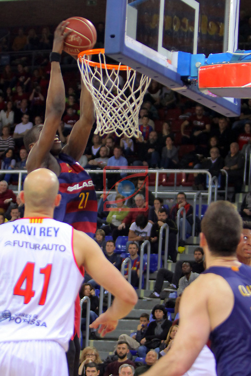 League ACB-ENDESA 2016/2017 - Game: 21.<br /> FC Barcelona Lassa vs ICL Manresa: 92-72.<br /> Moussa Diagne.
