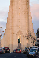 Reykjavik is a modern, exciting and vibrant capital city, and has become famous in recent years for its nightlife and trendy shopping. Nearly 60 percent of Iceland's 300,000 citizens live near the city. No visitor to Reykjavik will be able to avoid the most imposing architectural icon in the city, Hallgrímskirkja.