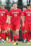 19 August 2014: Radford's Stephen Hudgens (15). The Duke University Blue Devils hosted the Radford University Highlanders at Koskinen Stadium in Durham, NC in a 2014 NCAA Division I Men's Soccer preseason match.