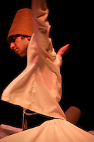 Whirling dervish performs in Istanbul, Turkey