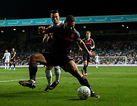 Leeds United's Jack Harrison vies for possession with Stoke City's Cameron Carter-Vickers<br /> <br /> Photographer Alex Dodd/CameraSport<br /> <br /> The Carabao Cup Second Round- Leeds United v Stoke City - Tuesday 27th August 2019  - Elland Road - Leeds<br />  <br /> World Copyright © 2019 CameraSport. All rights reserved. 43 Linden Ave. Countesthorpe. Leicester. England. LE8 5PG - Tel: +44 (0) 116 277 4147 - admin@camerasport.com - www.camerasport.com