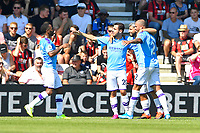 Sergio Aguero of Manchester City celebrates scoring the first goal during AFC Bournemouth vs Manchester City, Premier League Football at the Vitality Stadium on 25th August 2019