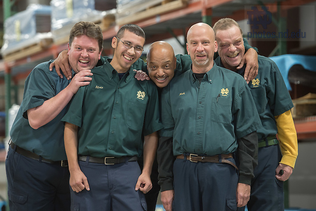 Nov. 20, 2014; FurnishND warehouse staff. (Photo by Matt Cashore/University of Notre Dame)