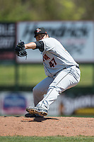 Delmarva Shorebirds relief pitcher Christian Turnipseed (47) in action against the Kannapolis Intimidators at Kannapolis Intimidators Stadium on April 13, 2016 in Kannapolis, North Carolina.  The Intimidators defeated the Shorebirds 8-7.  (Brian Westerholt/Four Seam Images)