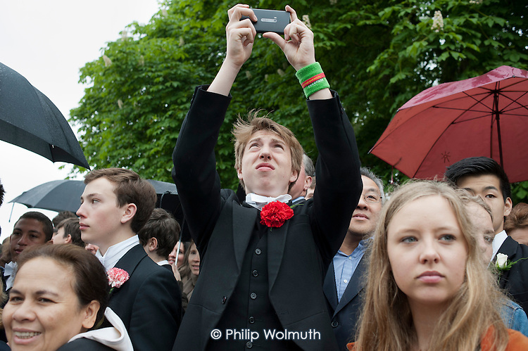 Annual Eton College Procession of Boats ceremony on the River Thames.