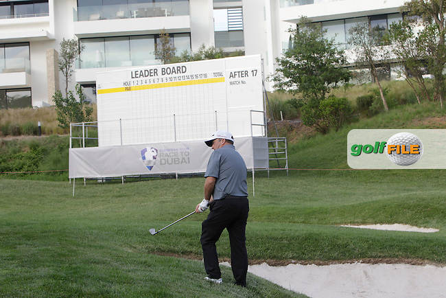 Damien McGrane (IRL) on the 18th during Practice Day of The Open De Espana at The PGA Catalunya Resort on Tuesday 13th May 2014.<br /> Picture:  Thos Caffrey / www.golffile.ie