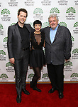 Patrick Mangan (Riverdance fiddler) and Ciara Sexton (Riverdance dancer) with Riverdance composer Bill Wheelan attends the Irish Repertory Theatre 30th Anniversary Celebration on June 17, 2019 at Alice Tully Hall in New York City.