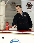 Tom Maguire (BC - Senior Manager) - The Boston College Eagles defeated the visiting University of Massachusetts Lowell River Hawks 6-3 on Sunday, October 28, 2012, at Kelley Rink in Conte Forum in Chestnut Hill, Massachusetts.