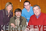 MAKE A WISH: Taking part in the Pa Joe O'Connor Memorial Table Quiz for Make A Wish Foundation on Friday night at Causeway Comprehensive School, l-r: Mary and Murty Bunyan, Colin O'Connor and John O'Regan..