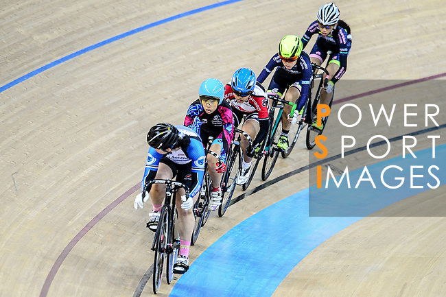 Cyclists compete during the Elimination Women Final Track Cycling Race 2016-17 Series 3 at the Hong Kong Velodrome on February 4, 2017 in Hong Kong, China. Photo by Marcio Rodrigo Machado / Power Sport Images