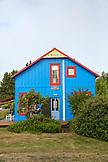 USA, Washington State, Long Beach Peninsula, International Kite Festival, neighborhood house in Seaview