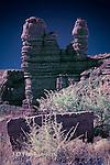 Cemetery Hoodoos, Bluff, Utah (Infrared)