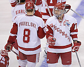 Joe Pavelski, Adam Burish - The University of Wisconsin Badgers defeated the Boston College Eagles 2-1 on Saturday, April 8, 2006, at the Bradley Center in Milwaukee, Wisconsin in the 2006 Frozen Four Final to take the national Title.