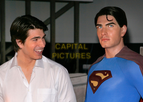 BRANDON ROUTH.At Madame Tussauds to unveil the museum's Superman wax figure and interactive experience, New York, NY, USA. .June 27th, 2006.Photo: Jackson Lee/Admedia/Capital Pictures.Ref: JL/ADM.headshot portrait.www.capitalpictures.com.sales@capitalpictures.com.© Capital Pictures.