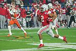 Ohio State Buckeyes running back J.K. Dobbins (2) runs down field during the Fiesta Bowl game against the Clemson Tigers on Saturday, Dec 28, 2019 in Glendale, Ariz.  (Gene Lower via AP)