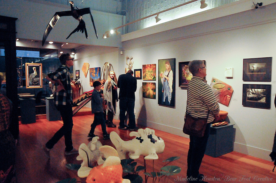 The Rectangle Gallery is open late during Centralia, Washington's Third Thursday on October 20, 2016.