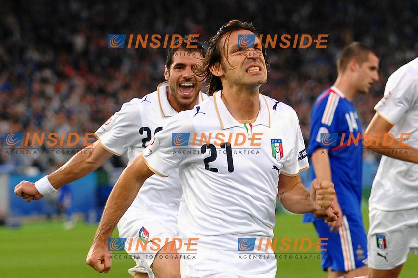 Andrea Pirlo celebrates scoring<br /> Esultanza di Andrea Pirlo dopo il gol<br /> Zurich/Zurigo 17/6/2008 Stadium &quot;Letzigrund&quot; <br /> France Italy - Francia Italia 0-2<br /> Euro2008 Calcio Group C<br /> Foto Andrea Staccioli Insidefoto