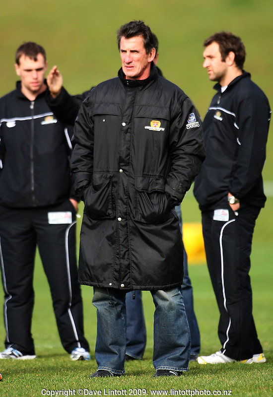 Canterbury coach Rob Penney during the Air NZ Cup preseason rugby match between Wellington Lions v Canterbury at Porirua Park, Porirua, Wellington, New Zealand on Friday, 23 July 2009. Photo: Dave Lintott / lintottphoto.co.nz
