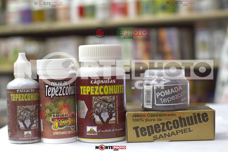 Embases con productos de Tepezcohuite