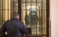 Carere di Poggioreale  Napoli<br /> nella foto , secondino, polizia penitenziaria