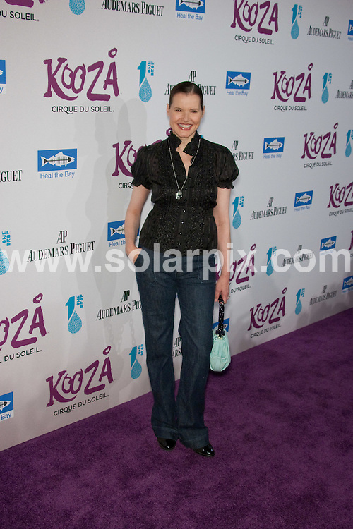 **ALL ROUND PICTURES FROM SOLARPIX.COM**.**SYNDICATION RIGHTS FOR UK, AUSTRALIA, DENMARK, PORTUGAL, S. AFRICA, SPAIN & DUBAI (U.A.E) ONLY**.Opening Night Gala for Kooza at the Santa Monica Pier, Santa Monica, CA, USA. 16 October 2009..This pic: Geena Davis..JOB REF: 10144 PHZ Hatcher   DATE: 16_10_2009.**MUST CREDIT SOLARPIX.COM OR DOUBLE FEE WILL BE CHARGED**.**MUST NOTIFY SOLARPIX OF ONLINE USAGE**.**CALL US ON: +34 952 811 768 or LOW RATE FROM UK 0844 617 7637**